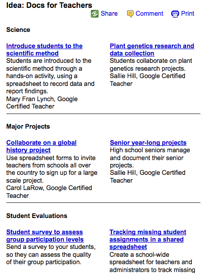 lesson plan ideas eschuster intro to google apps in education