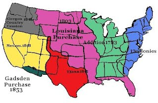 Manifest Destiny Westward Expansion Big Business - Us westward expansion map