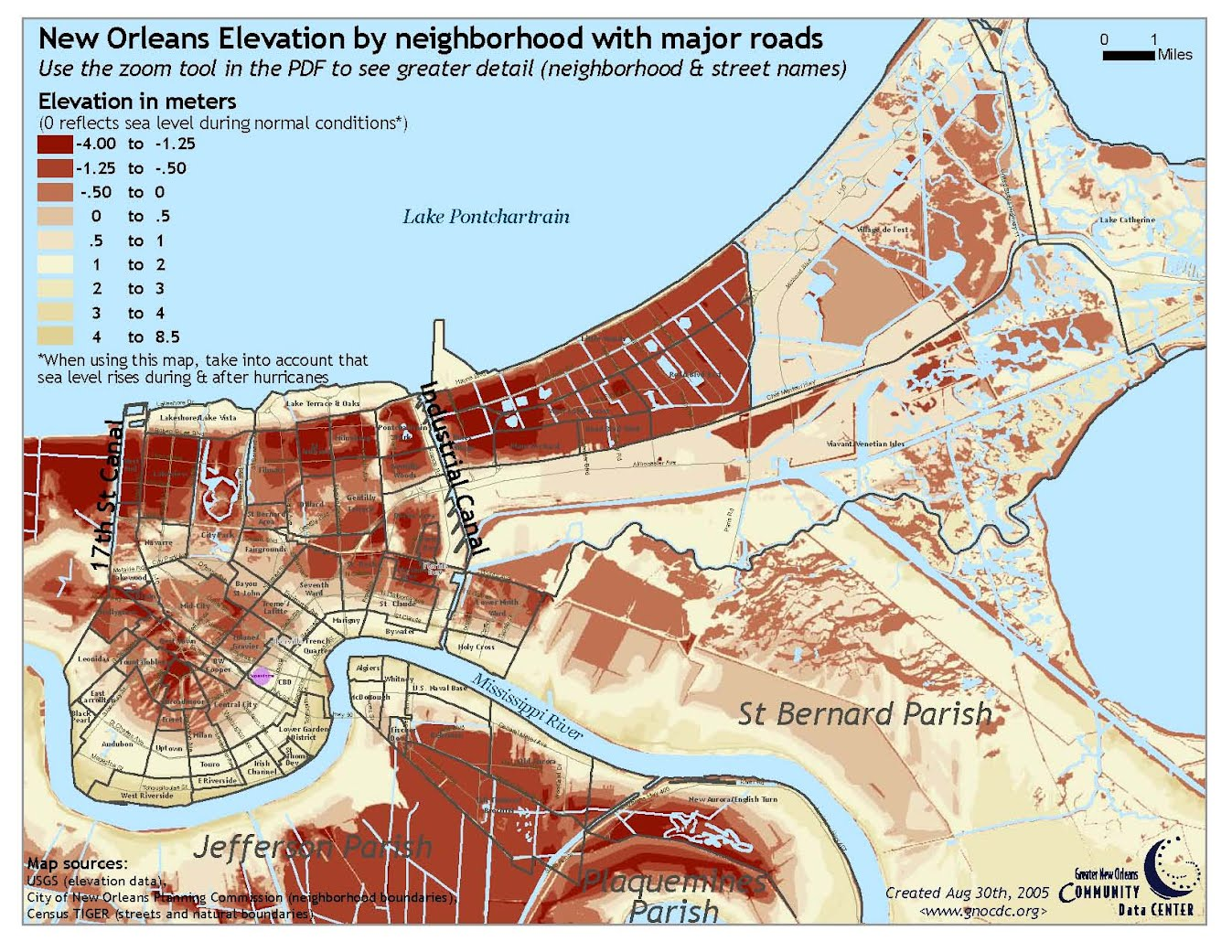 Hurricane Katrina New Orleans Map.Physiography Topography Characterizing Hurricane Katrina And New
