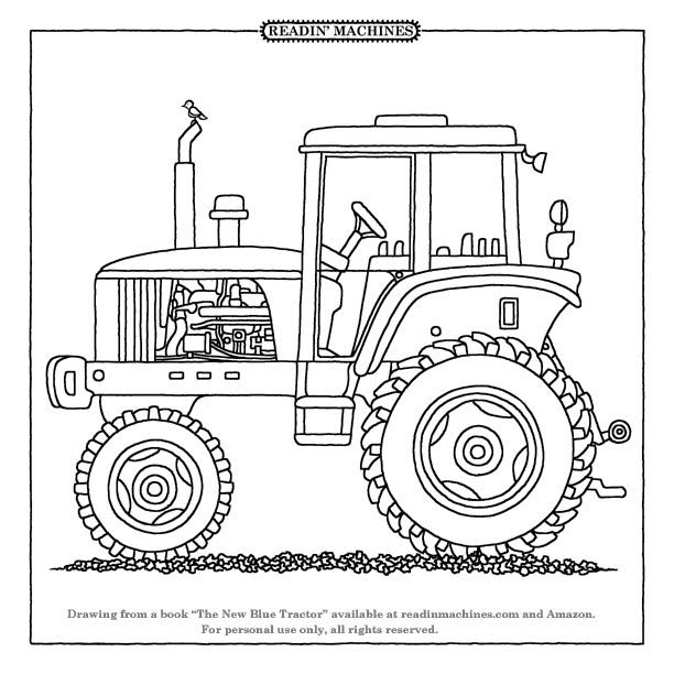 tractor harvesting corn coloring pages - photo#6