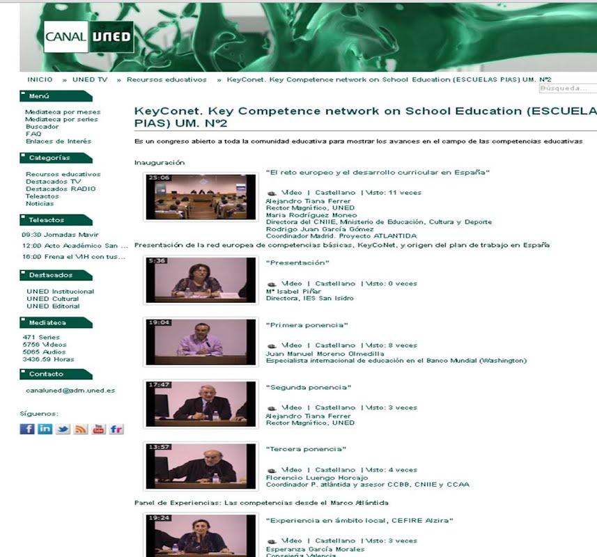 KeyConet. Key Competence network on School Education (ESCUELAS PIAS) UM. Nº2