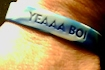 Friends made bracelets to remember Robert with his distinctive 'YEAAA BOI' cheer, and to raise money for scholarships.