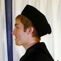 Vintage Antique USN WWII Navy Garrison Hat, 1940-