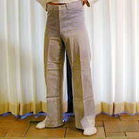 Vintage Antique WWII White Navy Pant, size 30, 1940-
