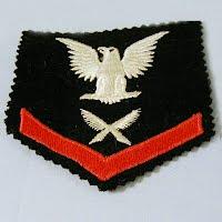 Vintage Antique Yeoman USN Ratings badge, 1940-1945