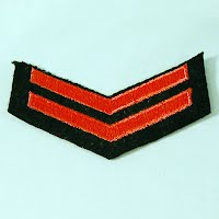 Vintage Antique USN 2nd Class Ratings Stripe, 1940-1945