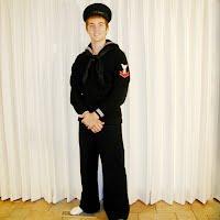 Vintage Antique WWII Dress Blues Navy Uniform, 1940-1945