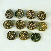 Antique Twinkle Cut Metal Buttons, 1900