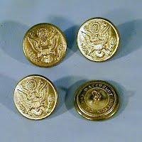 Vintage Antique 4 Civil War Eagle Buttons, 1861