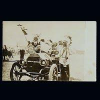 Antique Photo Postcard, Souix Indians SD