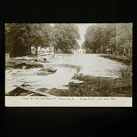 Antique Photo Postcard, Flood Sioux City Iowa 1909