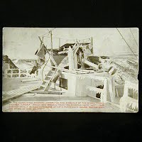 Antique Photo Postcard, Demolished Steerage of Steamer Umbria 1905