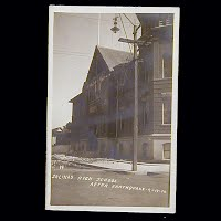 Antique Photo Postcard, Salina's High School after Earthquake 1906