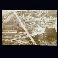 Antique Photo Postcard, Train Wreck Bagley Iowa