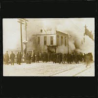 Antique Photo Postcard, Fire