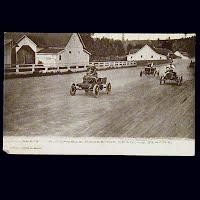 Antique Photo Postcard, Automobile Races The meadows, Seattle