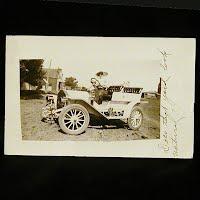 Antique Photo Postcard, Auto