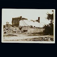 Antique Photo Postcard, Anoka Armory after Tornado 1939