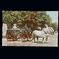 Antique Fire Wagon Postcard, Lebanon PA