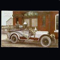 Antique Fire Wagon Postcard, Lebanon PA