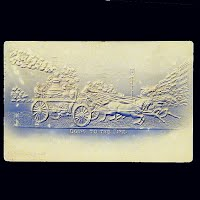 1906 Embossed Antique Fire Wagon Postcard, Going to the Fire