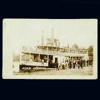 Antique Photo Postcard, Scene at Stockbridge Harbor Wisconsin