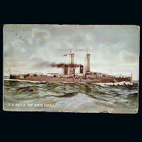 Antique Postcard, US Battleship North Dakota