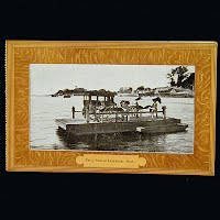 Antique Postcard, Ferry Boat at Pentwater Michigan