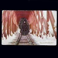 Antique Postcard, In the Snow Sheds Sierra MT. South Pacific Rail Road