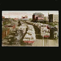 1915 Antique Postcard, Cotton Blockade at Houston Texas