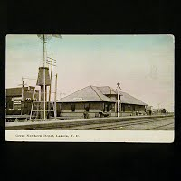 Antique Postcard, Great Northern Depot Lakota ND