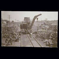 Antique Photo Postcard, Willow Springs Train Parts