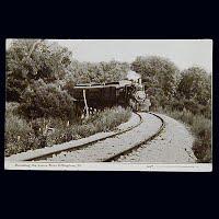 Antique Photo Postcard, Round the Curve near Effingham Ill