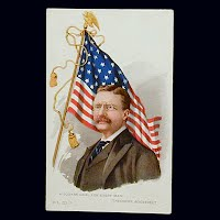 Antique Postcard, Theodore Roosevelt