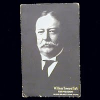 1908 Antique Photo Postcard, William Howard Taft for President