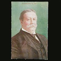 1911 Antique Postcard, President William Howard Taft