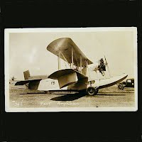 Antique Photo Postcard, Navy Amphibian Airplane
