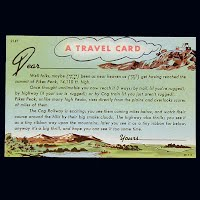 Antique Travel Card Postcard, Pikes Peak