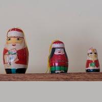 Vintage 3 Piece Nesting Santa