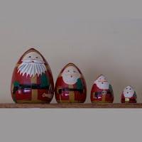 Vintage 4 Piece Nesting Santa