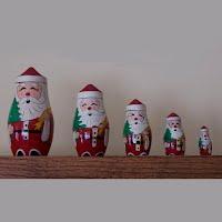 Vintage 5 Piece Nesting Santa