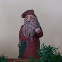 Vintage Wooden Santa