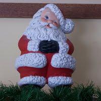 Vintage Ceramic Winking Santa