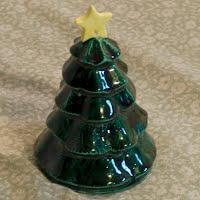 Vintage Ceramic Christmas Tree Bell