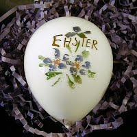 Hand Painted Antique Milk Glass Easter Egg