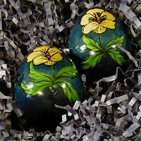 Vintage Russian Wooden Easter Eggs, 1980