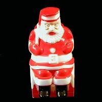Vintage Light up Plastic Santa