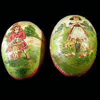 Antique Paper Mache Easter Egg, 1930