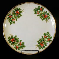 Vintage Holly Christmas Plate