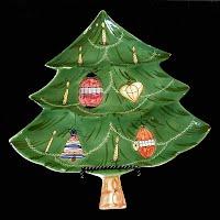 Vintage Porcelain Christmas Tree Plate